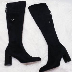Marc Fisher Lupo black OTK chunky heel boot sz 7.5